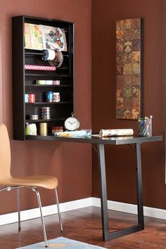 Wall Mount Craft Desk - Black by Furniture Fit for Crafting on @HauteLook