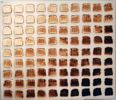 90 Shades of Toast! Remix of Josef Albers Homage to [Charles Strite as] a square, also known as GITTERBROT by Sean Woodrow & David Corns composition organisation typograph Tostadas, Pantone, David Corn, Things Organized Neatly, Burnt Toast, Elements Of Art, 50 Shades, Food Art, Food Food