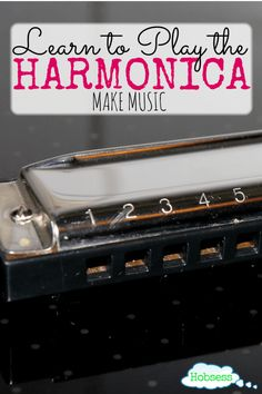 Have you ever wanted to learn how to play the harmonica? It's time. Get started here now http://www.hobsess.com/music/harmonica/ or pin for later.