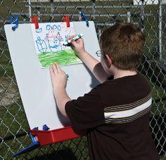 ChildBrite Single Fence Easel for Kids