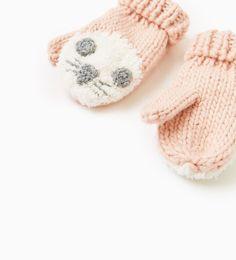 ZARA - KIDS - Little animal face mittens