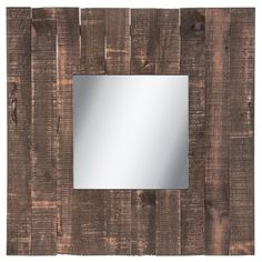 This beautiful farmhouse style wall mirror will make a statement in any room. This piece will work perfectly as an accent mirror to add style to any room, especially those modern farmhouse style dinin Modern Farmhouse Style, Rustic Farmhouse, Pallet Mirror, Wall Mirror Online, Rustic Mirrors, Entryway Wall, Got Wood, Venetian Mirrors, Wood Pallets