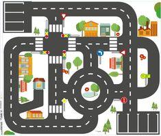 Möbelfolie Kleine Stadt für IKEA KRITTER Kindertisch 59x50 cm 01