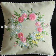 ribbon embroidery | ribbon embroidery designs for cushions