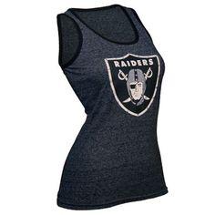 Oakland Raiders Majestic Threads Women s NFL Tri-Blend Contrast Rhinestone  Tanktop (Black) Raiders ef9ec0f61