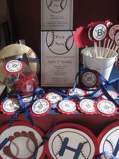 Baseball Birthday Party Package by KristinesCreationsSD on Etsy