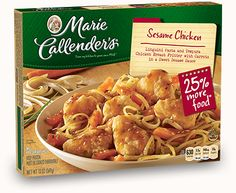 Sit down and enjoy Marie Callender's Chicken Teriyaki featuring delicious teriyaki sauce and veggies served atop steamed rice. Try it today! Sesame Chicken, Teriyaki Chicken, Teriyaki Sauce, Chicken Patty Recipes, Chicken Broccoli Alfredo, Chicken Patties, Weird Food, Frozen Meals, Miniature