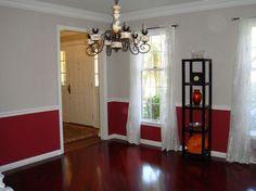 Red-dining-room-chair-rail.jpg (650×487)