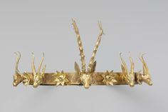 gold Ancient Stag ancient history fashion history ancient jewelry diadem gazelles hyksos Dynasty 15 Second Intermediate Period Ancient Jewelry, Antique Jewelry, Owl Ring, Tiaras And Crowns, Rose Cut Diamond, Black Enamel, Gold Bands, Fashion History, Elegant