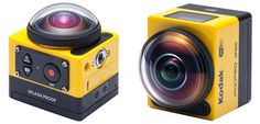 This quirky, 360° action camera is Kodak's response to the GoPro. http://petapixel.com/2014/11/04/360-action-cam-kodaks-interesting-response-gopro/