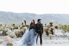 Love in the Desert: Edgy + Electric Elopement Inspiration - Green Wedding Shoes Country Wedding Dresses, Black Wedding Dresses, Green Wedding Shoes, Tulle Skirt Wedding Dress, Tulle Wedding, Gown Wedding, Girls Blue Dress, Flower Girl Dresses, Edgy Wedding