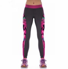 231104765a8799 Aliexpress.com : Buy Print Breathable Stretch Legging Aerobics Running  Pants Slim Workout Leggings Female Women Fitness Yoga Trousers Leggins from  Reliable ...