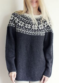 Ravelry: Norwegian Woods Sweater - Skogstjerne pattern by Katrine Hammer Sarah's sweater choice for 2018 Icelandic Sweaters, Norwegian Wood, Big Knits, Wood Patterns, Knitting Patterns, Jumper, Refashion, My Style, Pullover