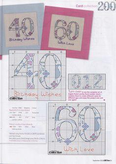 Birthday card numbers Gallery.ru / Фото #33 - Cross Stitch Collection 200 - 09.11 - Los-ku-tik