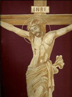 Jesus Christ on the Cross  Handmade with rice leaves by museumshop, $99.00      Rice straw art is an ancient & endangered form of leaf art.  Less than 100 artists practices this unique art.  No added color, paint or dye added to the natural color of rice straw. (dried leaves of rice plant). Please visit Rice Straw Museum and write an article about leaf art in your blog.  Thanks.   www.etsy.com/shop/museumshop   Ray, The leaf artist.  Galveston, Texas.  Rkoshy9622@aol.com