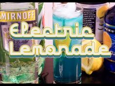 The Electric Lemonade is made with citrus vodka (or light rum), blue curacao, sweet and sour, and 7-up. Easy, right? It tastes great, and it's perfect year round. Plus, who doesn't like drinks that are blue? Share and repin as you see fit. Namaste!