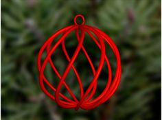 spiral christmas ball small by isis_11; 3D printable, several materials available