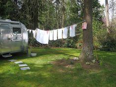 Camping clotheslines   Vintage travel trailers   Pinterest