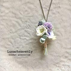 Crochet Fabric, Crochet Motif, Crochet Flowers, Knit Crochet, Baubles And Beads, Tiny Flowers, Crochet Accessories, Wool Felt, Handmade Jewelry