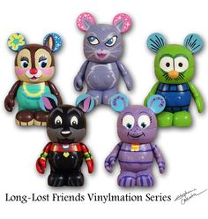Vinylmation Exclusive Custom Series #3, $65.00. 6 Blind Boxed One-of-a-kind Custom Vinylmations by Stephanie Cassata