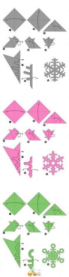 Cute DIY snowflakes