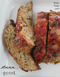 Easy turkey meatloaf. Italian bread crumbs, garlic, and egg whites.