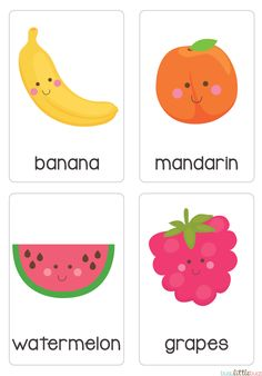 "Our set of printable ""Fruit & Vegetable Flash Cards"" are a great learning tool for early literacy and would be a great addition to a health unit. All brightly coloured and of high quality. Baby Learning, Learning Tools, Learning Activities, Activities For Kids, Toddler Fun, Toddler Preschool, Ingles Kids, Flashcards For Kids, Teaching Aids"
