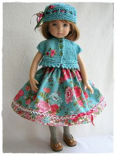 Teal Roses and Knit for Little Darling