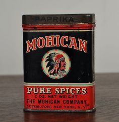 $76.51 Antique spice tin Mohican Paprika