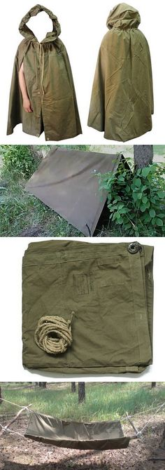 Russian Military GROUNDSHEET (tent + raincoat)