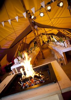 Roaring fire in Fjell Events Tri-Tipi set up! Tent Wedding, Our Wedding, Camping Stove, Cumbria, Wedding Inspiration, Wedding Ideas, Summer Wedding, Fire, Outdoor Decor