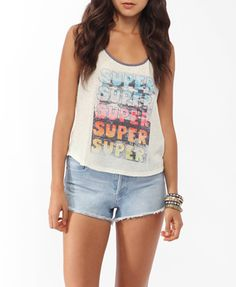 Super Beach Graphic Tank | FOREVER21 - 2017306933
