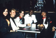 Coco (looking glam), Bowie, Nile Rogers and ...