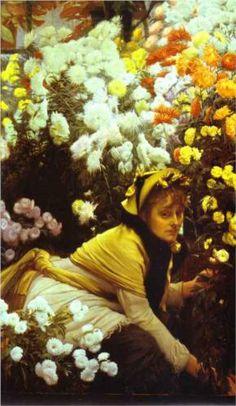 Chrysanthemums - James Jacques Joseph Tissot