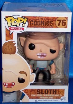 NEW IN BOX RARE RETIRED FUNKO POP MOVIES THE GOONIES SLOTH #76 VINYL FIGURE in Collectibles, Pinbacks, Bobbles, Lunchboxes, Bobbleheads, Nodders | eBay
