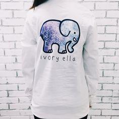 d3deb548b8842 2016 Spring New Harajuku Ivory Ella T shirt Women girls Print Cute Animal  Elephant TShirt Summer Plus Size Long Sleeve Crop Top - Top Kawaii - Best  Online ...