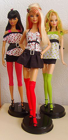 My Barbie Top Models 'Hair Wear' Collection by Fashion_Luva, via Flickr