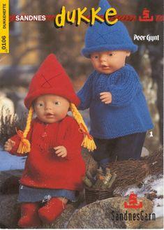 Revista Dukke Bonecas Bebê Tricô Crochê Crochet Doll Dress, Knitted Dolls, Crochet Hats, Ag Dolls, Barbie Dolls, Baby Born Clothes, Knitting Dolls Clothes, Doll Dress Patterns, Doll Accessories