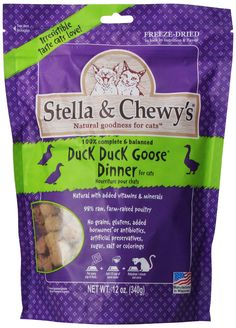 Stella & Chewy's Freeze Dried Duck Duck Goose Food for Cat 12-Ounce