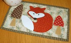 Fox Mug Rug and Coaster by The Patchsmith | Quilting Pattern
