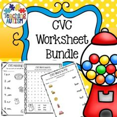 CVC Worksheet Bundle, Printable, No PrepThis is a small bundle consisting of no prep printable worksheets (101 pages in total);* CVC handwriting practice(a) 16 pages(e) 18 pages(i) 17 pages(u) 18 pages* Missing letters worksheet - 5 pages* Scrambled letters worksheet - 5 pages* Word to picture matching worksheet - 11 pages* Code Word Cracker - 4 pages* Word Search - 7 pagesThis resource is available in my CVC activity bundle available here.Click here to view more of my CVC products.Click…