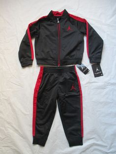 594b58904c41 Nike Boys Michael Jordan Black Red Tracksuit 2 Piece Set Size Newborn-5T  754352  NikeMichaelJordan  CasualFormalParty