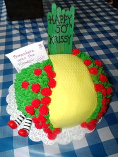 50th Birthday Bday Over the Hill Wizard of Oz Cake made by Patsy's Sweet Shoppe in West Allis, WI.