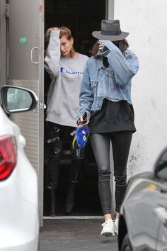 March 21 - Kendall and Hailey leaving a hair salon in Los Angeles.