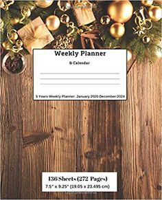 Amazon.com: Weekly Planner & Calendar, 5 Years Planner: January 2020-December-2024 (9781696494496): Ricky Lee: Books