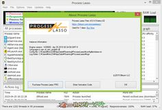 Process Lasso 8.0.4.5 Beta  Process Lasso--Process Lassoについて--オールフリーソフト