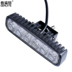 LED Work Light Bar 18W For Motorcycle Car Truck Boat Tractor Working Light Off Road Work Lamp Motorbike Driving  LED Lights