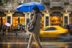 """""""Colors of the Rain"""" Street Photography Bucharest Romania Cinemagraph Art Impressions"""