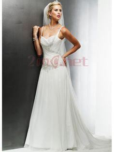 Spaghetti-Straps-Satin-Sweep-Train-Lace-Wedding-Dress-With-Pleats-13535-450x600.jpg 450×600 piksel
