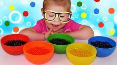✿ ОРБИЗ в КРАСКУ - ПОКРАСИТСЯ? Опыты Для Детей Красим Орбиз ORBEEZ coloring Invisible Polymer Balls {{AutoHashTags}}
